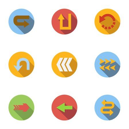 Cursor icons set, flat style