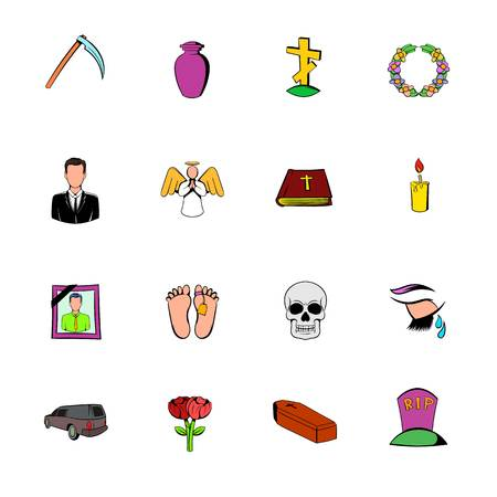 bible flower: Death icon set