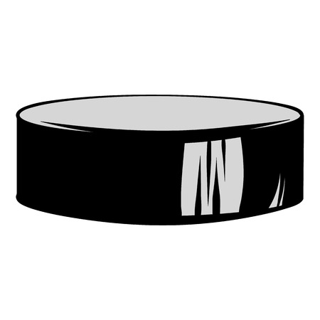 puck: Hockey puck icon cartoon