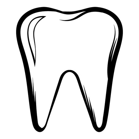 Zahn-Symbol Cartoon
