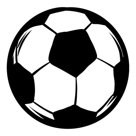 Soccer icon cartoon Illustration