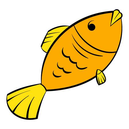 Dry fish icon, icon cartoon