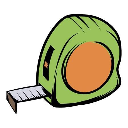 Tape measure icon cartoon
