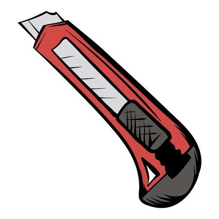 Cuchillo utilitario icono de dibujos animados