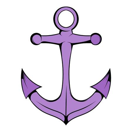 Anchor icon in icon cartoon