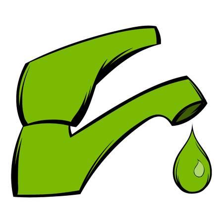Save water icon cartoon Illustration