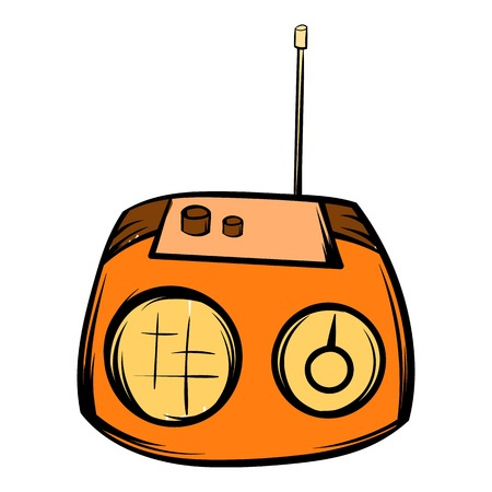 Boom box icon cartoon