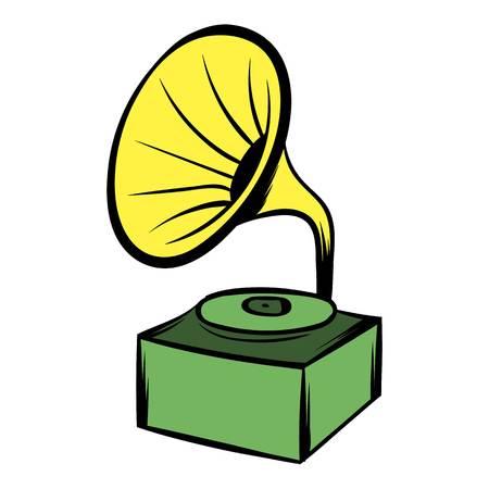 Gramophone icon cartoon Illustration