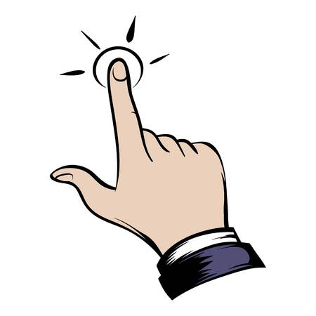 Click hand icon cartoon Stock fotó - 73501714