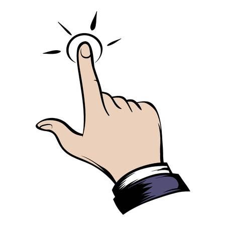 Click hand icon cartoon Illustration