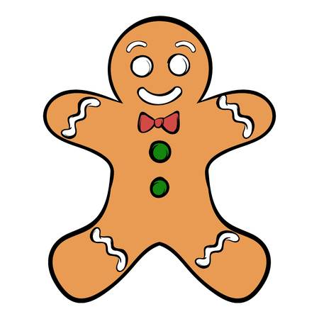 man: Cookie man icon cartoon