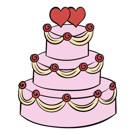 wedding cake: Wedding cake icon cartoon
