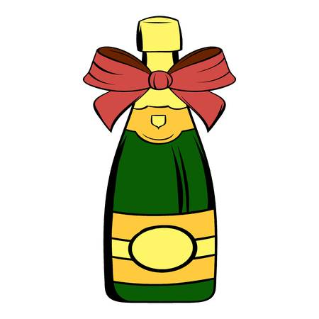 Bottle of champagne icon cartoon