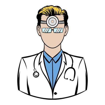 Doctor with stethoscope Illustration