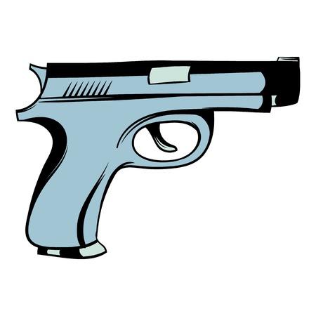 terrorist attack: Gun icon cartoon
