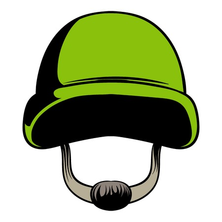 Army helmet icon cartoon