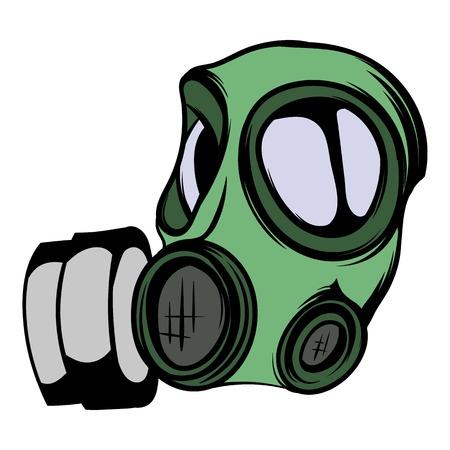 Gas mask icon cartoon