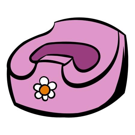 Baby pot icon cartoon
