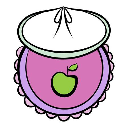 Baby bib icon cartoon Vettoriali