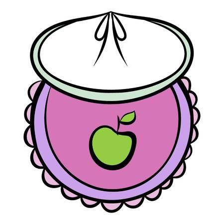 Baby bib icon cartoon Illustration
