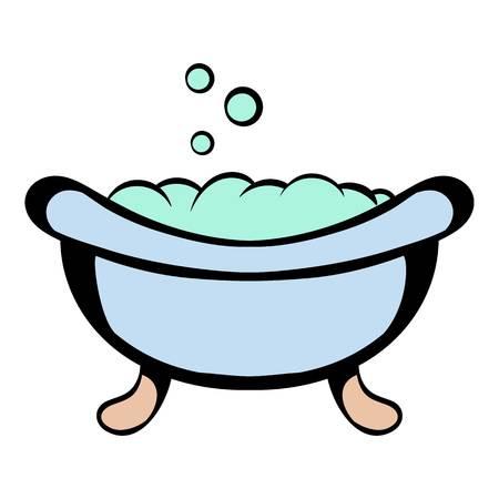 Baby bath icon cartoon