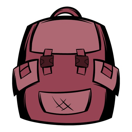 Backpack school icon cartoon
