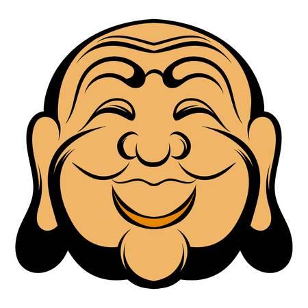 nirvana: Buddha head icon cartoon