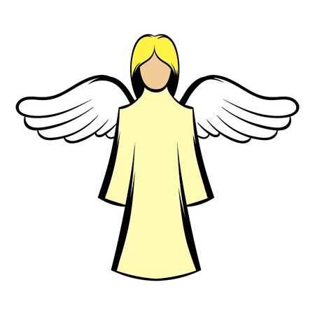 Saint angel icon cartoon