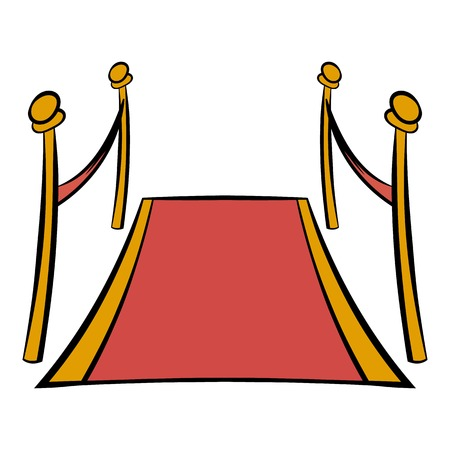 Red carpet icon cartoon