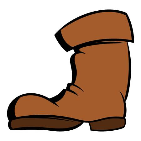 High boots icon cartoon