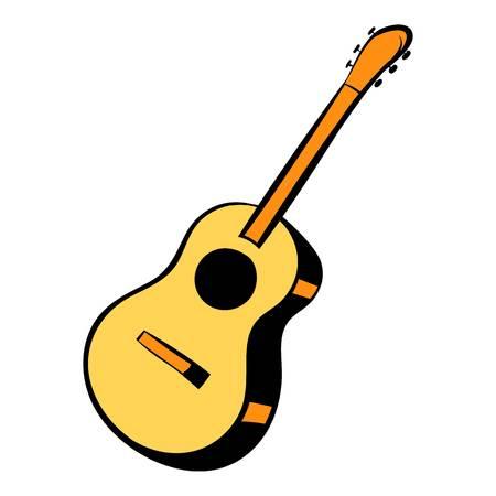 dessin animé icône guitare acoustique Vecteurs