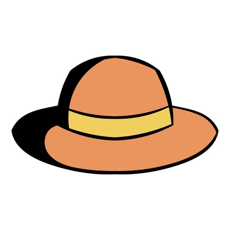 Hipster hat icon cartoon