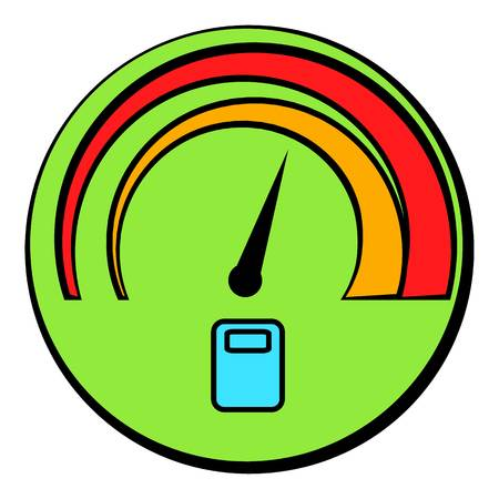 Car fuel gauge icon cartoon Illustration
