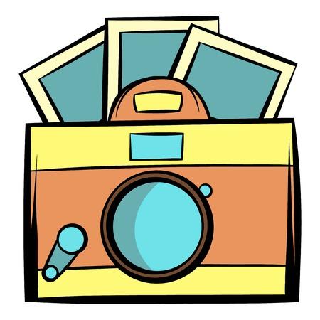 journalistic: Retro camera icon cartoon