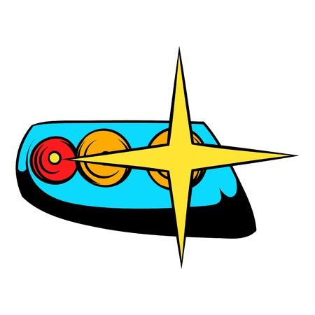 headlamp: Headlamp icon cartoon