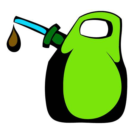 Oil canister icon cartoon