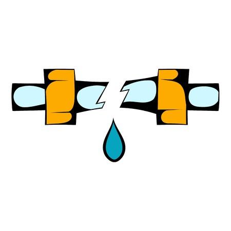 Break trumpet icon cartoon