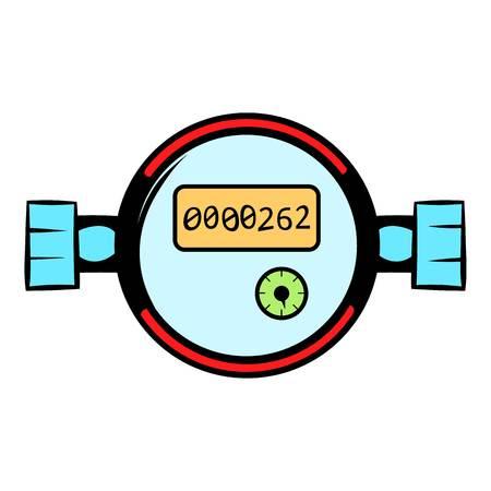 Water meters icon cartoon