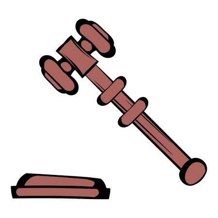 Judge gavel icon, icon cartoon