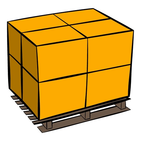 strapping: Pallet icon cartoon