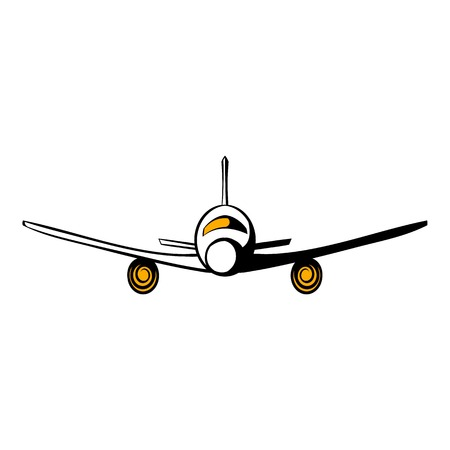 jetliner: Airplane icon cartoon