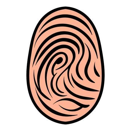 Fingerprint icon, icon cartoon