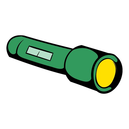 Flashlight icon, icon cartoon