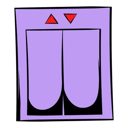 Elevator icon cartoon