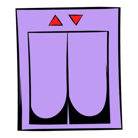 Elevator icon cartoon