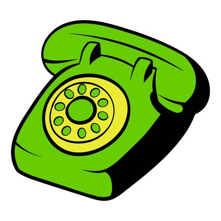 Phone icon cartoon