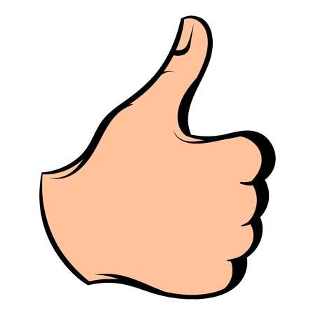 validation: Thumb up icon, icon cartoon