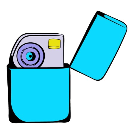 igniter: Petrol lighter icon cartoon Illustration