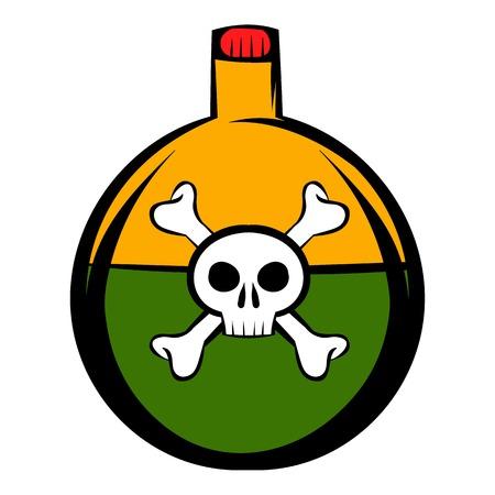 poison: Poison icon cartoon Illustration
