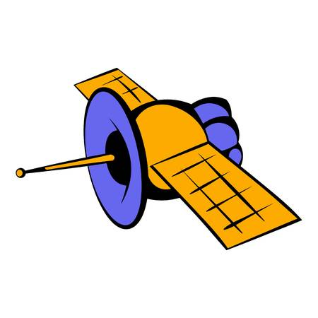 Satellite communications icon, icon cartoon